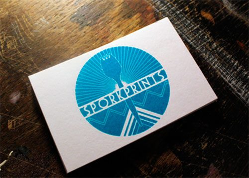 Sporkprints Business Cards by Samuel Capell