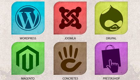 Multicolor CMS Icon Set