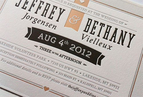 Printed Wedding Invite by Jeffrey Jorgensen