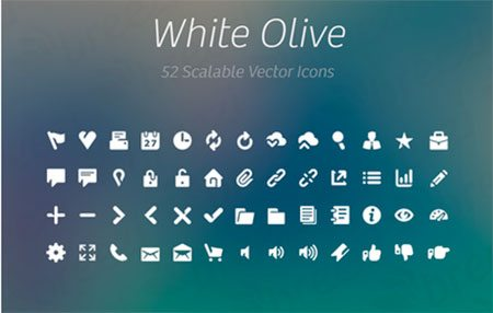 White Olive Icon Collection by Breezi