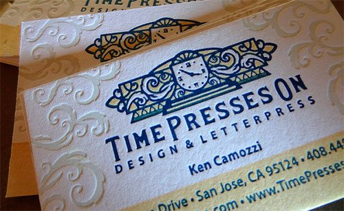 Identity and web design for Time Presses On