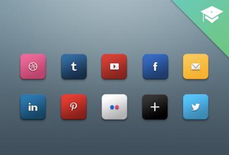 Social Media Icons for 2013