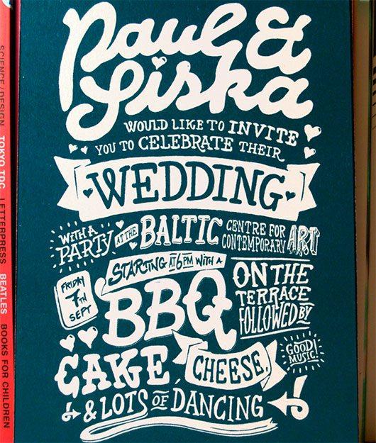 Wedding Invitation by Paul Robson
