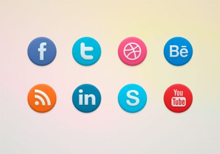 Social Icons by Valik Boyev