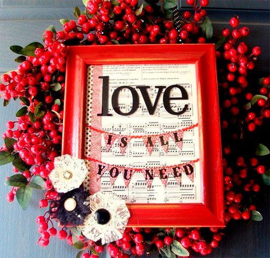 Valentine Wreath & Frame