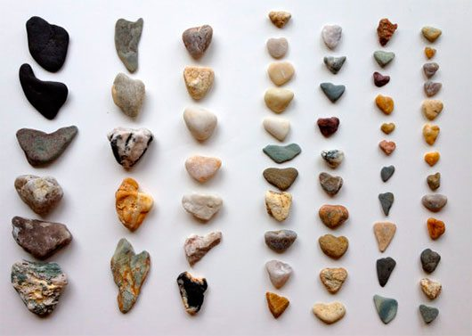 63 Heart Shaped Beach Stones