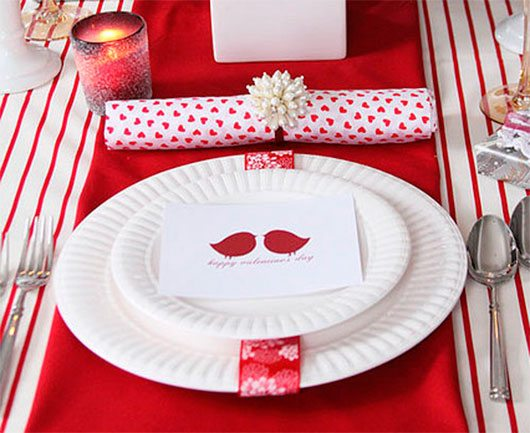 valentines day tabletop