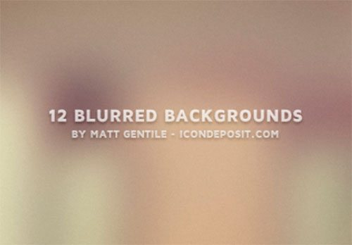 12 Blurred Backgrounds by Matt Gentile