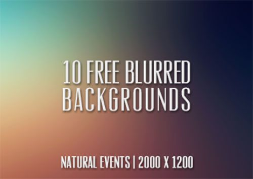 10 (Free) Blurred Backgrounds by Cat Smith