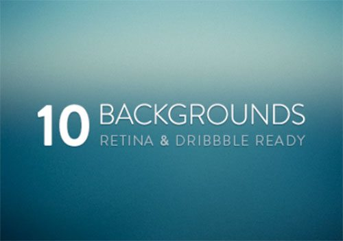 10 Free Blurred Backgrounds: Retina & Dribbble Ready by Bastien Wilmotte
