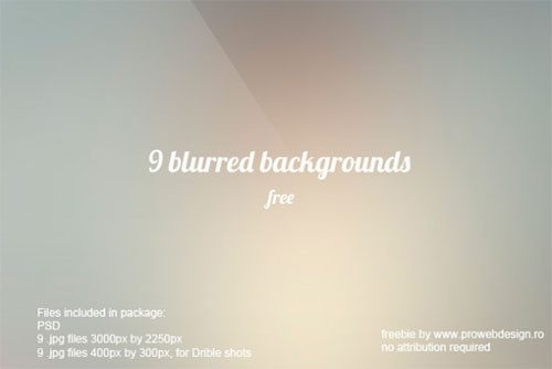 9 free high resolution blurred backgrounds