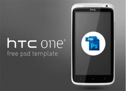 HTC One X Free PSD Template by Ondrej Lechan