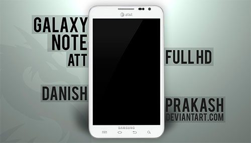Samsung Galaxy Note ATT [white] [psd] by danishprakash