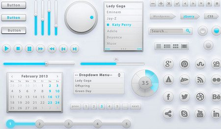 Light Grey UI Kit