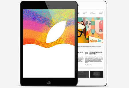 Black & White iPad Mini Mockups
