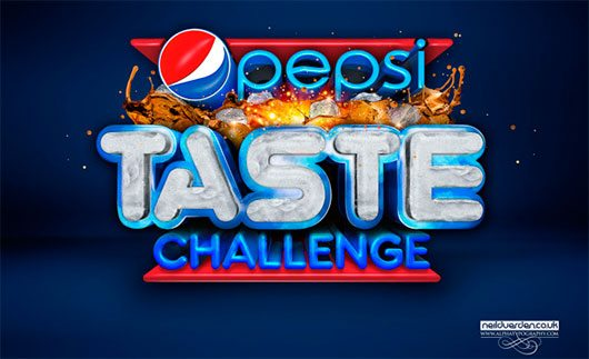 Pepsi Taste challenge 3D typography