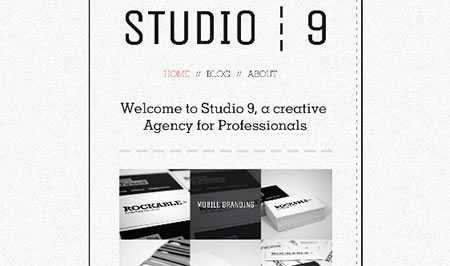 Creative Agency Potfolio - Studio 9