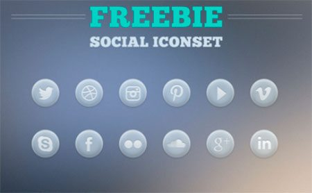 Social Icon Set by Willian Schilling