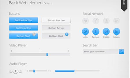 Pack Web elements by Emilie Daboussy