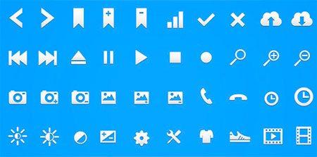 Retina Glyph Icon Set
