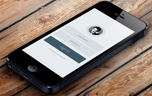 Minimal app login form by Abhimanyu Rana