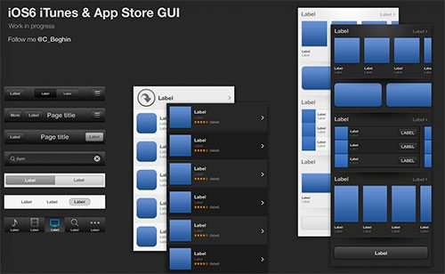 iOS6 iTunes & App Store GUI by Christophe Béghin