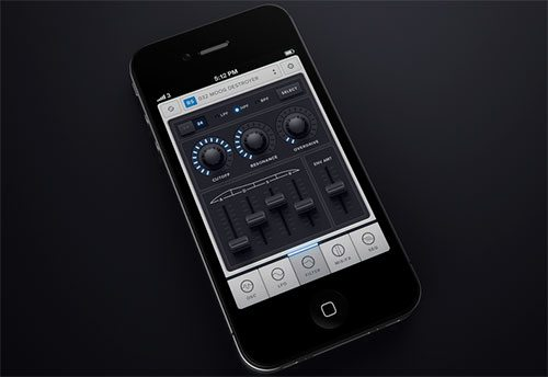 Untitled iPhone music app by Mikael Eidenberg