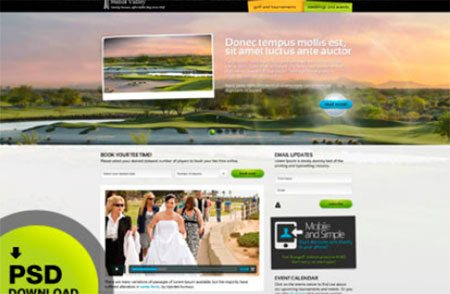 Website Design and Development - Golf by Dash