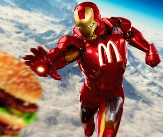 What if Superheroes Were Sponsored by Brands?
