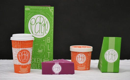 Perk! Cafe and Deli Packaging