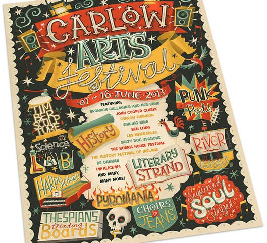 Carlow Arts Fest poster by Steve Simpson