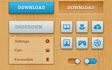 Bold Woody UI [Free .psd] by MediaLoot
