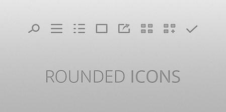 .EPS Rounded icons by Pieter Goris
