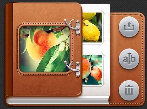 Photoalbum's controls for UI iPad by Cuberto