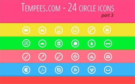 Circle icons - part 3