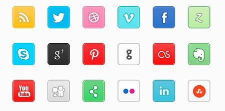 Px Social Icon Set
