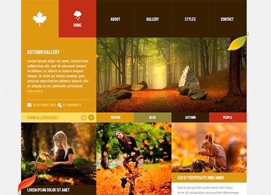 Autumn - WordPress Theme 2. by Detrans