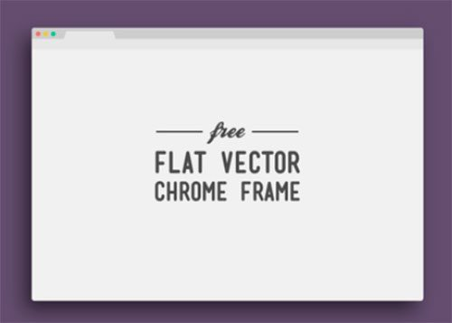 Flat Vector Chrome Frame by Jeffrey Kam