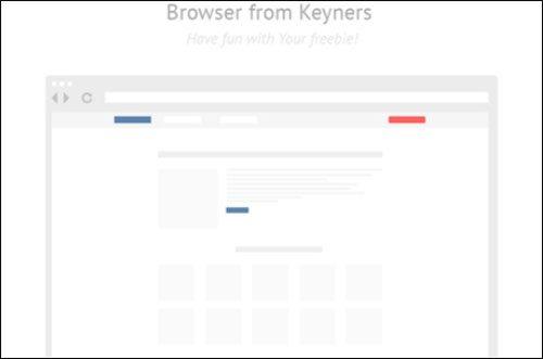 Browser freebie from keyners by Keyners