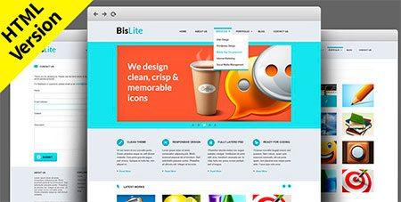BisLite: Free HTML Website Templates