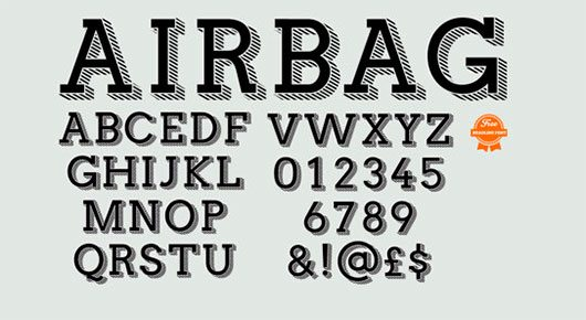 Airbag Typeface by simon stratford