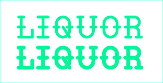 Liquor Typeface by William Suckling