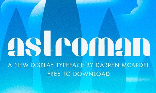Astroman Typeface by Darren McArdel