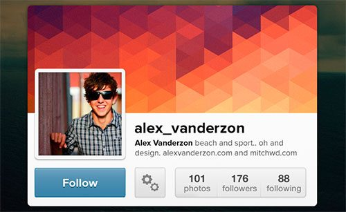 Instagram Widget Interface by Alex Vanderzon