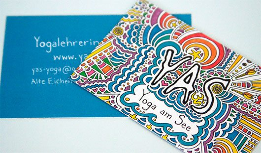 Yoga am See (YAS) Business Card by Kaitlyn Parker