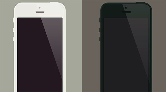 iPhone5 Flat Template by buatoom