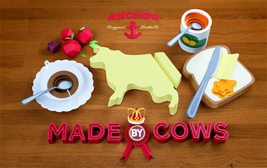 Anchor Butter · Made by Cows by Lobulo Design