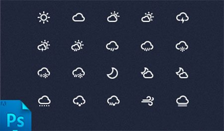 Weather Icon PSD by Onlyoly