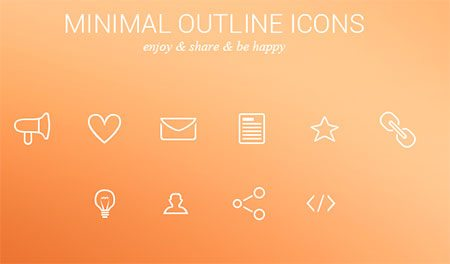Minimal Outline Icons Freebie by Martin Maričák