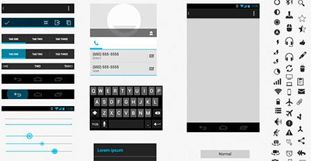 Android UI XHDPI Template (.sketch ) by Thierry Teyssier